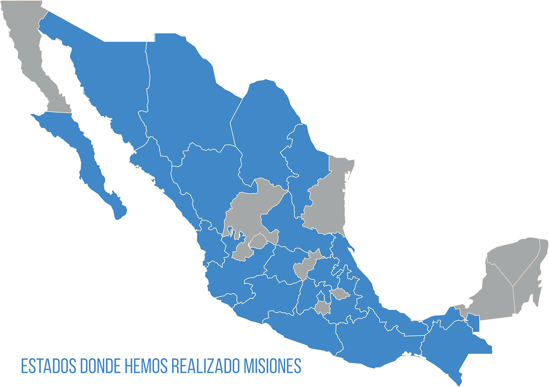 Estados donde hemos realizado misiones
